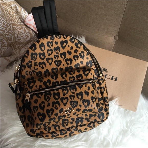 2f331a33c Coach Bags | Leopard Print Mini Backpack | Poshmark